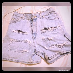 Vintage distressed Levi shorts